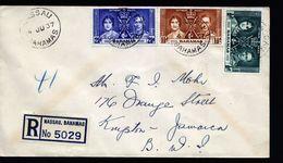 A5007) UK Bahamas R-Brief Von Nassau 04.06.1937 Nach Jamaica - Bahamas (...-1973)