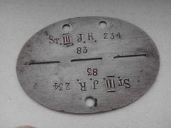 Plaque D'identité Allemande Erkennungsmarke 1 - 1939-45