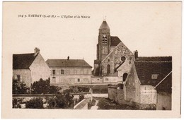 CPA Vaudoy, L'Eglise Et La Mairie (pk41112) - France