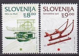 1993, Slowenien, Slovenia,  Mi. 65/66,  MNH **. Freimarken: Kulturelles Erbe - Slovenië