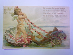 1er  AVRIL  :  Jolie Fantaisie Gaufrée   1907    - April Fool's Day