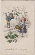 'Gelukkkig Nieuwjaar' - Hoefijzer  - 1921 - Gouda, Holland/Nederland - Nieuwjaar