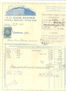 JUDAIKA C.D.GAON ZAGREB YEAR 1937 - Factures & Documents Commerciaux