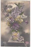 'Gelukkkig Nieuwjaar' - Gedecoreerde  Vaas Met Bloemen  - 1915 - Holland/Nederland - (Fauvette 1530) - Nieuwjaar