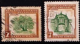 URUGUAY - 1954  -  Y&T. Nr. 625 En/et 628   -  Gestempeld/oblit. - ° - Uruguay