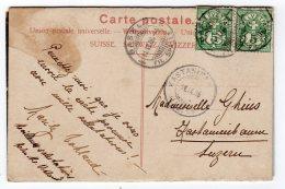 CAP  BASEL  Neue Mittlere Rheinbrücke  TIMBRES HEVETIA 5 Cachets Basel,  Kastanienbaum  1906 Nov 2017 1117 - Poststempel