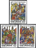 Vatikanstadt 999-1001 (complete Issue) Unmounted Mint / Never Hinged 1990 Holy. Willibrord - Vatican