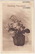 'Gelukkkig Nieuwjaar' - Vaas Met Rozen - 1919 - Holland/Nederland - (Uitg.: J.W. Jansen's Uitg.-Mij., Utrecht - No. 885) - Nieuwjaar