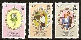 Tristan Da Cunha 1981 Yvertn° 291-293 *** MNH Cote 22 FF Prince Charles Et Diana - Tristan Da Cunha