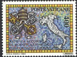 Vatikanstadt 882 (complete Issue) Unmounted Mint / Never Hinged 1985 Concordat - Vatican
