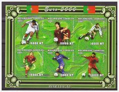 0499 Mozambique 2000 Voetbal Soccer Europe Portugal Players S/S MNH Imperf - Europees Kampioenschap (UEFA)