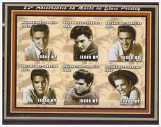 0496 Mozambique 2002 25 Anniversary Elvis Presley Dead S/S MNH Imperf - Beroemde Vrouwen