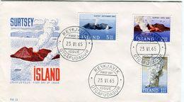 Iceland/Islande/Ijsland/Island FDC 23.VI.1965 Surtsey Eruption Matching Cover FM-21 - FDC
