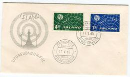 Iceland/Islande/Ijsland FDC 17.V.1965  UIT Centenary Matching Cover - FDC