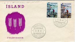 Iceland/Islande/Ijsland/Island FDC 21.III.1963 Fisheries Matching Cover - FDC