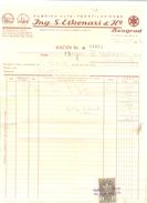 JUDAIKA ING.S.ASKENAZI & Co BELGRADE  YEAR 1939 - Factures & Documents Commerciaux