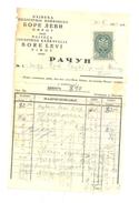 JUDAIKA BORA LEVI PIROT L INDUSTRIE DE KACKAVALL YEAR 1939 - Factures & Documents Commerciaux