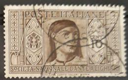 ITALIA 1932 Dante Alighieri Society. USADO - USED. - 1900-44 Victor Emmanuel III