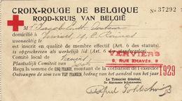 Carte De La Croix Rouge Rood Kruis De Belgique Pour Jacob Docteur à Verviers 1929 - Documents Historiques