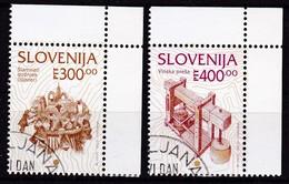 1994, Slowenien, Slovenia,  Mi. 97/98,  Gestempelt,  Freimarken: Kulturelles Erbe - Slovenia