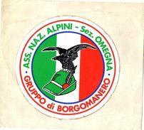 ADESIVO-ASS. NAZ. ALPINI-SEZIONE DI OMEGNA-GRUPPO DI BORGOMANERO - Stickers