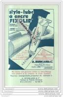 68 - 163 MULHOUSE HAUT RHIN ALSACE 19.. Stylo Tube ˆ Encre FIXOLID Des Ets A. BURKARD Cie Fabrique Produits Chimiques - Profumeria & Drogheria