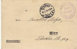 Carte Militaire Strasburg Guerre WWI  1916 - Documenten