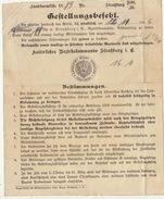 Courrier Allemand De Stasburg En 1889 Du Bezirkskommando Militaire Cachet D'envoi Au Dos - Documenten