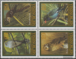Mikronesien 391-394 Block Of Four (complete Issue) Unmounted Mint / Never Hinged 1994 Birds - Micronesia