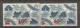 C  SOMALIS - Yv.  N° 254,255  *  50c S 5c, 60c S 5c    Cote 1,4 Euros BE 2 Scans - Côte Française Des Somalis (1894-1967)