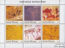 Guinea-Bissau 2489-2494 Kleinbogen (kompl.Ausg.) Postfrisch 2003 Wandmalereien - Guinea-Bissau