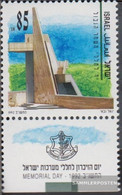 Israel 1219 With Tab (complete Issue) Unmounted Mint / Never Hinged 1992 Fallen Commemoration - Israel