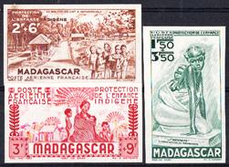 Madagascar - N°PA 41/43 - P.E.I.Q.U.I. - Non Dentelé (mini Charnière Sur 2 Timbres).Série Complète. - Madagaskar (1889-1960)