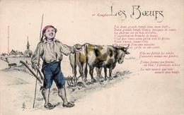1er Couplet Les Boeufs - Illustration Agriculture - Agriculture