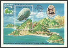 ST THOMAS AND PRINCE 1979 ROWLAND HILL UPU ZEPPELIN AIRCRAFT M/SHEET MNH - Sao Tome And Principe