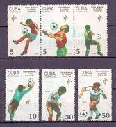 Cuba 1990 World Cup Football, Soccer (6v) MNH (M-140) - World Cup