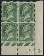 Lot N°4250 France Préoblitéré N°66 Bloc De 4 Neuf  ** LUXE - 1893-1947