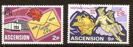 Ascension 1974 Yvertn° 180-81 (°) Oblitéré Used  U.P.U. Cote 1,50 Euro - Ascension (Ile De L')