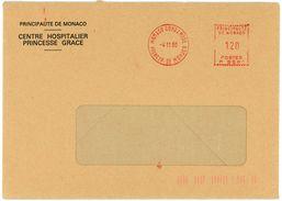 EMA MONACO CONDAMINE 1980 Env. Du Centre Hospitalier Princesse Grace - Marcophilie - EMA (Empreintes Machines)
