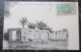 Dahomey Benin Ruines Case Des Sacrifices Zagnanado  Cpa Timbrée - Dahomey