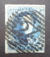 BELGIE  1851     Nr. 7   P 24   /  14 Baren     Gerand / Gebuur     CW 9,00 - 1851-1857 Medallions (6/8)