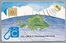 Telefoonkaart. TEL-EM N.V. - PHONECARD. 60 Units.  2 Scans - Antilles (Netherlands)