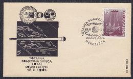 Yugoslavia 1961 Total Solar Eclipse, Cover - Storia Postale
