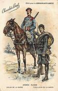 Armée Russe - Uhlan De La Garde - Tirailleur De La Garde - Illustration Pour Chocolat Louit - Soldats Militaire - Militaria