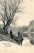 SUISSE Pêcheurs Au Filet Bord Du Rhône Près Genève La Bouillée D'arbres - GE Genf