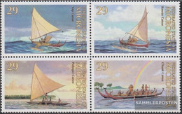 Mikronesien 290-293 Block Of Four Unmounted Mint / Never Hinged 1993 Traditional Kanus - Micronesia