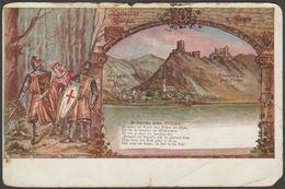 Rheinische Burgen, Die Feindlichen Brüder, C.1900 - Josef Wewerka U/B AK - Fairy Tales, Popular Stories & Legends