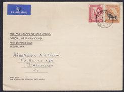 Kenya Air Mail Letter Sent To Dar Es Salaam - Kenya (1963-...)