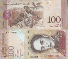 Venezuela Pick-number: 93i Uncirculated 2015 100 Bolivares - Venezuela
