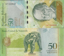 Venezuela Pick-number: 92e Uncirculated 2011 50 Bolivares - Venezuela